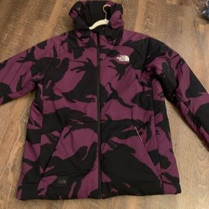 North face free ride purple camo jacket (new)